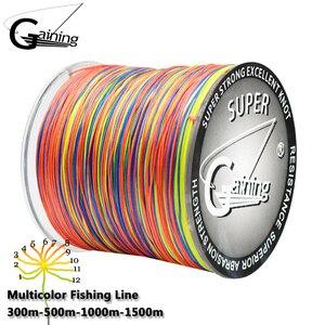 Gaining 12 Strands Braided Fishing Line Super Strong Japanese 300M 500M 1000M 1500M Multifilament PE Line Sea Carp Fishing