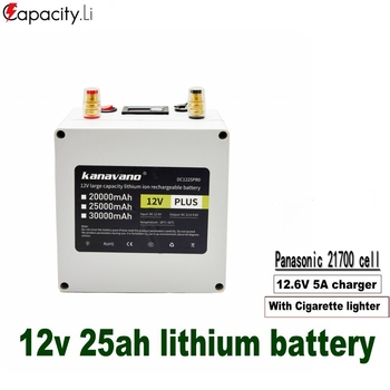 Capacity.Li 12v lithium battery phosphate rechargeable battery packs 21700 BMS portable camping outdoor battery