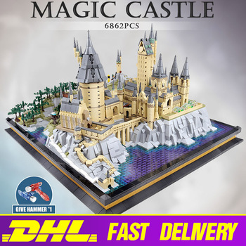 MOULD KING Movie Castle 22004 Magic School of Witchcraft and Wizardry Compatible with 16060 Building Blocks Kid Christmas Gift image