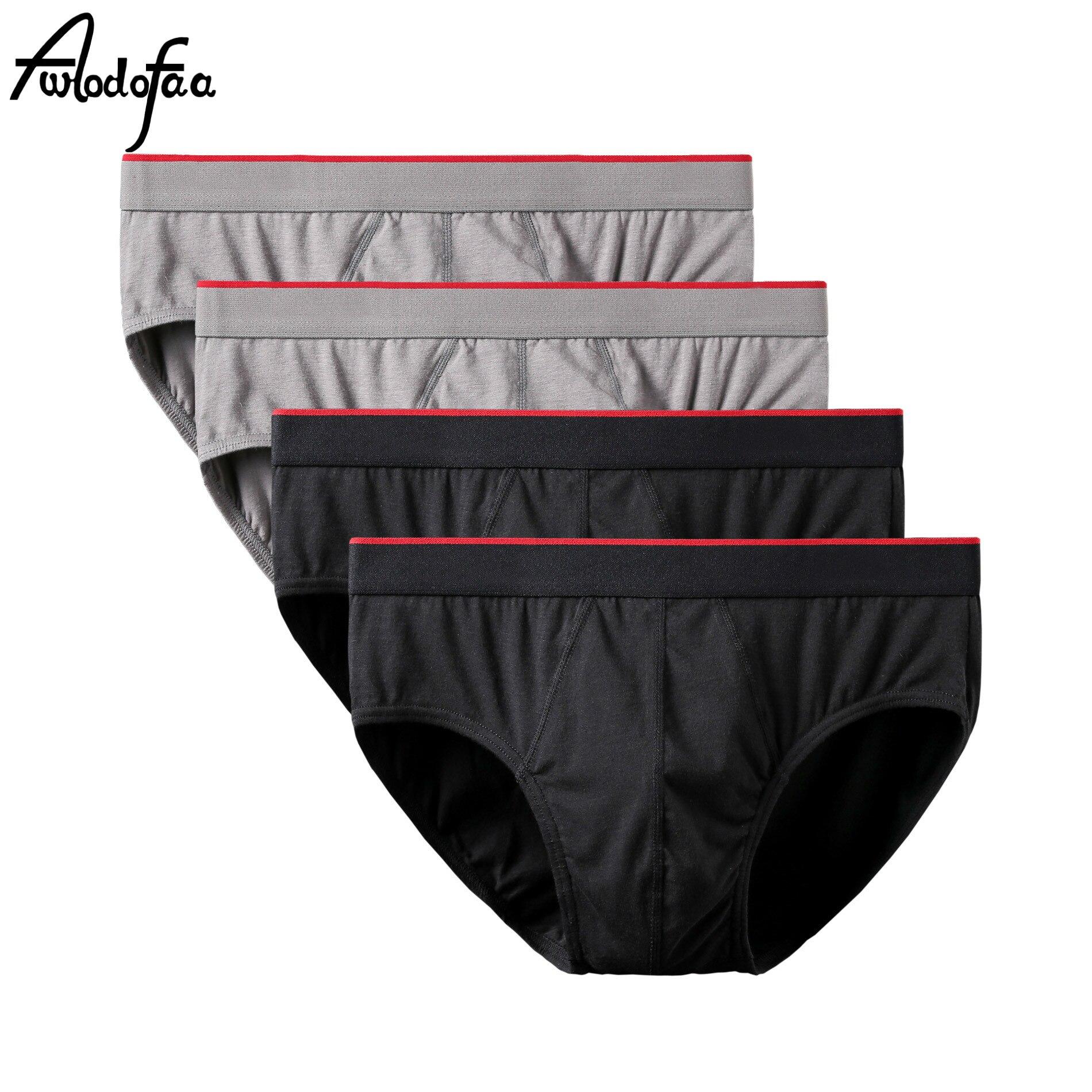 4Pcs/lot Sexy Men Plus Size Cotton Underwear Men Briefs Underpants Jockstrap Mens Briefs Cuecas Men Brief Bikini Under Wear Man