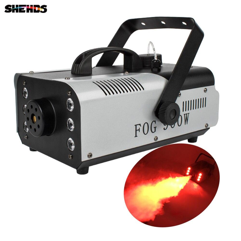Мини 900 Вт RGB 3в1 пульт дистанционного управления противотуманная машина насос диско DJ дымовая машина для вечеринки свадьбы Рождества сцены ...
