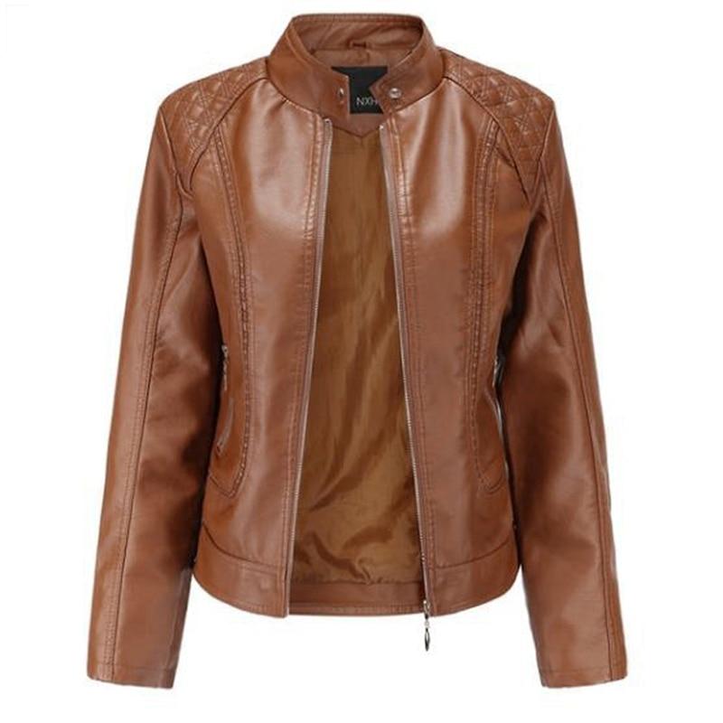 Модная Осенняя Женская одежда, куртка с воротником-стойкой, Женское пальто с длинными рукавами, женские куртки с темпераментом, уличная