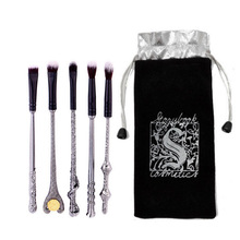 5 pcs/set Harries Makeup Brush Magic Wands Potters Eye Shadow Beauty Cosmetic School Stationery Painting Birthday Gifts For Girl