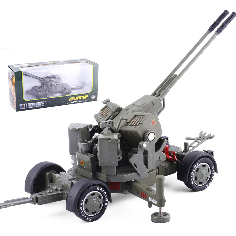 1 36 Scale Metal Simulation Alloy Diecast Weapon Anti aircraft Gun Military Model Toy for Fans Collection Decoration Kids Gifts in Diecasts Toy Vehicles from Toys Hobbies