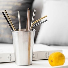 1/2/4pcs Stainless Steel Straw Reusable Metal Drinking Straw With Cleaner Brush For Home Party Barware Bar Accessories New