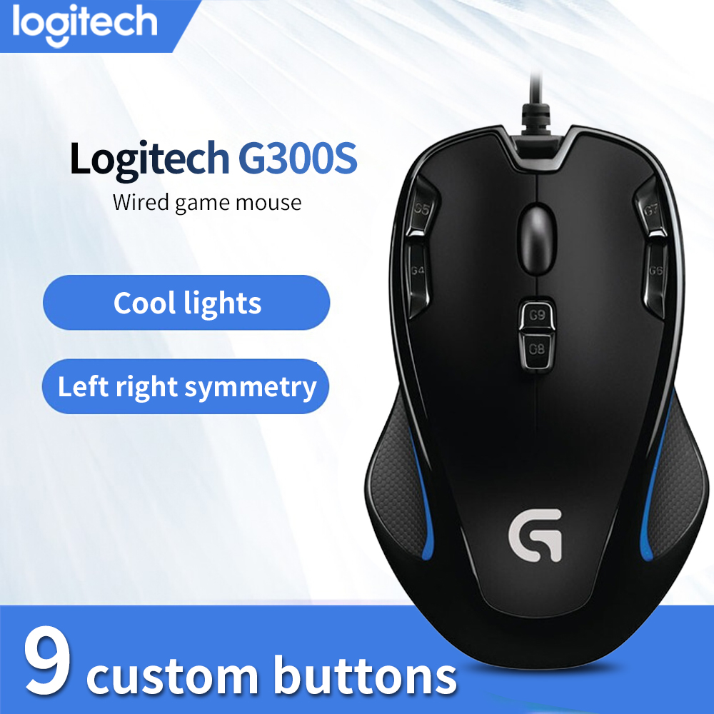 Logitech original mouse G300S Optical gaming mouse by logitech with 2500 DPI for PC mouse gamer play overwatch Starcraft War3|Mice|   - AliExpress