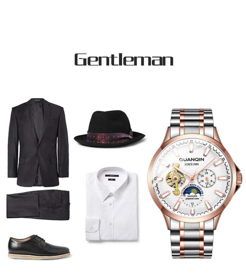 H08a0b25b9de6412d96a62cbc7d087cd62 GUANQIN 2019 automatic watch clock men waterproof stainless steel mechanical top brand luxury skeleton watch relogio masculino