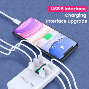 Image 2 - 6A 6 Ports Phone USB Charger For iPhone iPad Samsung Xiaomi Multiple Wall Charging EU/US Plug Adapter Mobile Phone Universal