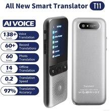 138 langues T11 Portable traducteur vocal intelligent en temps réel multi langue discours interactif hors ligne traducteur voyage daffaires