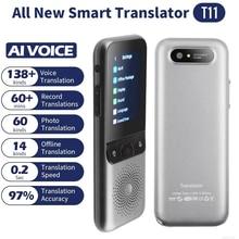 مترجم صوت ذكي محمول موديل T11 متعدد اللغات 138 في الوقت الحقيقي مترجم تفاعلي متعدد اللغات للسفر إلى الأعمال