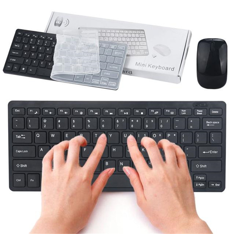 VOBERRY 2.4G Wireless Keyboard And Mouse Mini Multimedia Keyboard Mouse Combo Set For Laptop Desktop PC TV Office Supplies