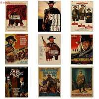 Classic Vecchio Film per Un Pugno di Dollari Retro Poster Movie Poster di Carta Kraft Poster Pittura Decorativa