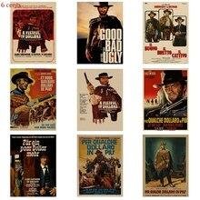 Get more info on the Classic old movie Per un pugno di dollari retro poster movie poster kraft paper poster decorative painting