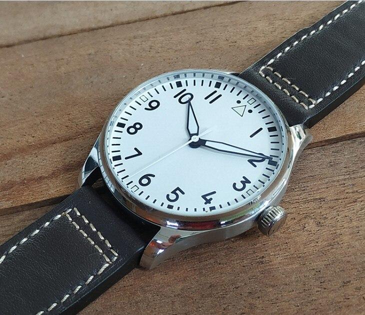 40.5mm GEERVO White Or Black Dial  Japanese VH31 Quartz Movement Men's Watch  Luminous Pilot Watch G349-g8