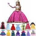 Дисней «Холодное сердце» 2 вечерние платья принцессы бальное платье для маленьких девочек Подарочное карнавальный костюм в стиле Спящей кр...