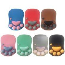3d милый коврик для мышки с Аниме Мягкие силиконовые кошка собака
