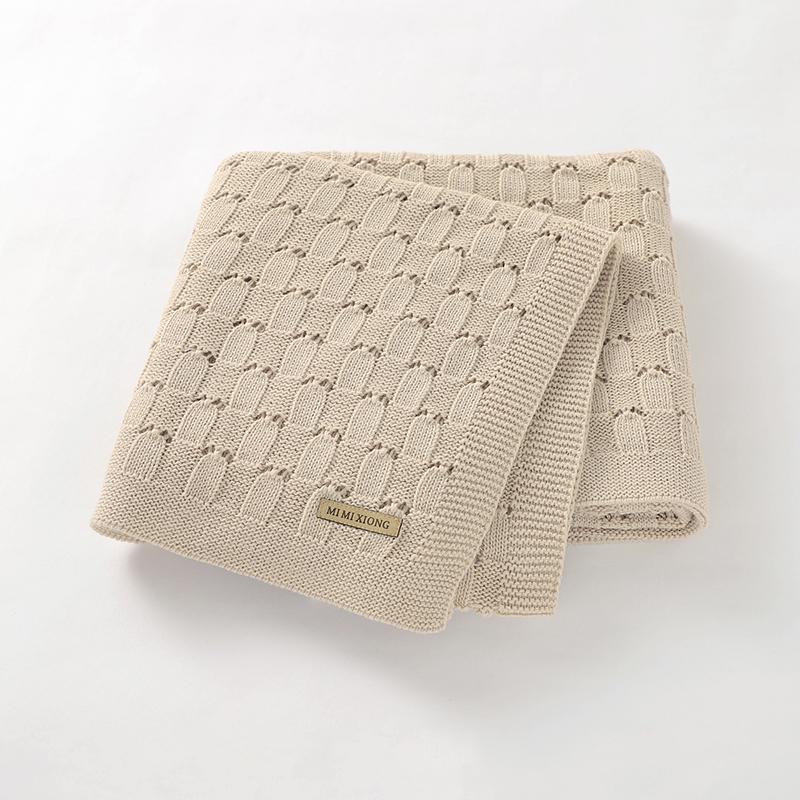 Baby Blankets Newborn 100%Cotton Knitted Infant Boys Girls Stroller Swaddle Wrap Super Soft Toddler Kids Bedding Blankets 100*80 4