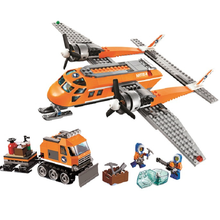 10441 Arctic Supply Plane 391 Pcs Model Building Kits Compatible Legoinglys City Blocks 3D Education