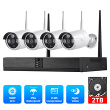 Fuers 4CH CCTV Camera Security System Kit WIFI Wireless NVR Kit 1080P IR Night Vision Outdoor IP Camera Video Surveillance Set