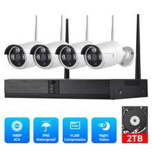Fuers 4CH Cctv Camera Security System Kit Wifi Draadloze Nvr Kit 1080P Ir Nachtzicht Outdoor Ip Camera Video surveillance Set