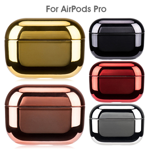 Luxury PC Gold Protective Cases For Apple Airpods Pro Electroplated PC Earphone Case Cover Anti-fall Box For Airpods 3 Pro 2019(China)