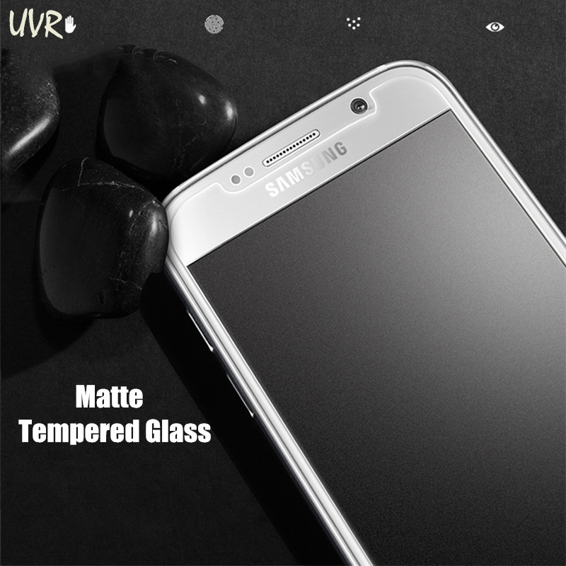 UVR Matte Frosted Tempered Glass For Samsung Galaxy J3 2017 2016 2015 J2 J4 J6 Plus J7 J8 2018 Screen Protector J7 Prime J2 Pro image