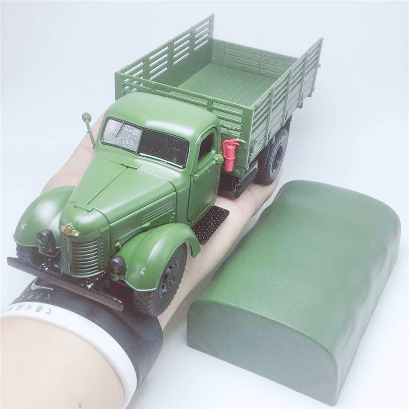 Classic 1:32 CA10 Military Truck Alloy Model,simulation Die-cast Sound And Light Transport Model, Collection&gifts,free Shipping