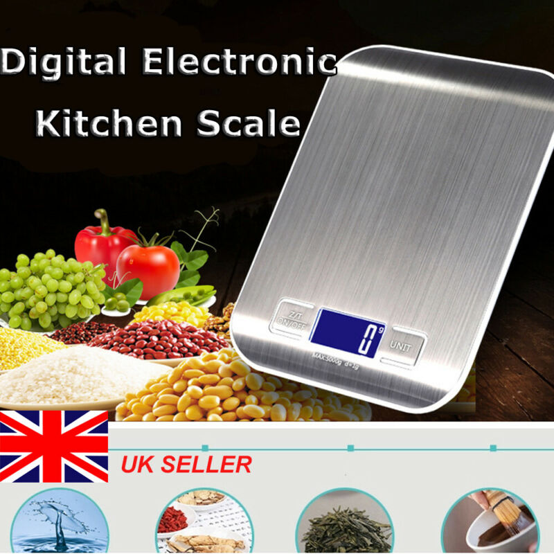 5KG/10KG/1G LCD Digital Electronic Kitchen Food Diet Scale Weight Balance Stainless Steel High Precision Scale Measuring Tools