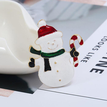 Christmas New Year Gift Red&White Sweet Snowman Brooch Women Men