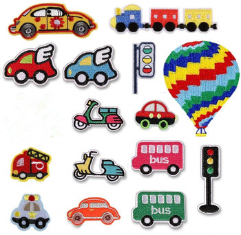 Rainbow Car Patches Embroidery Iron on Patch for Stripes Clothing DIY Stickers Sew on Clothes Denim Jacket Sequin Appliques image