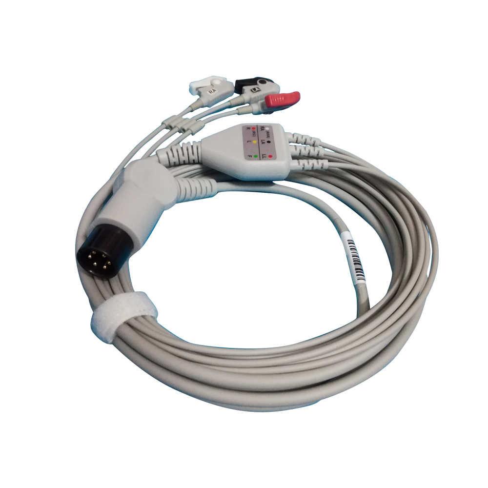 ZONDAN cable ECG con 5 lleva 3 Plomo SNAP monitor de paciente Apollo N1-A Apollo N2 Apollo N3 Apollo N4 Apollo
