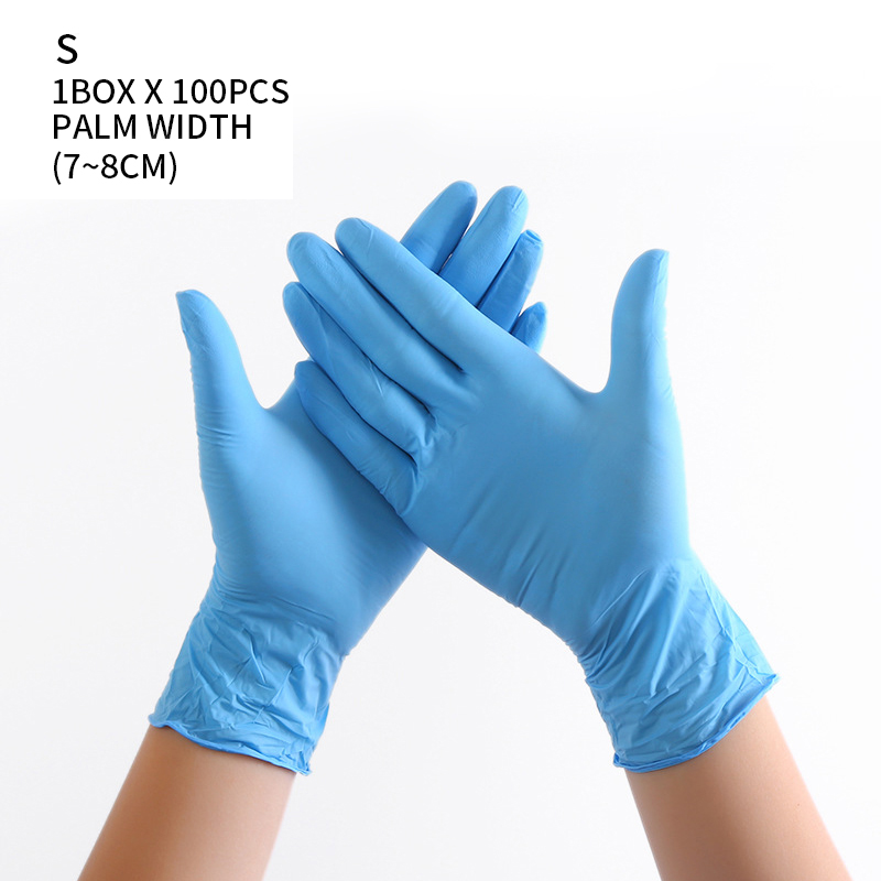 100 PCS Disposable Nitrile Gloves and Multi Purpose Latex Gloves for Virus and Flu Protection 44