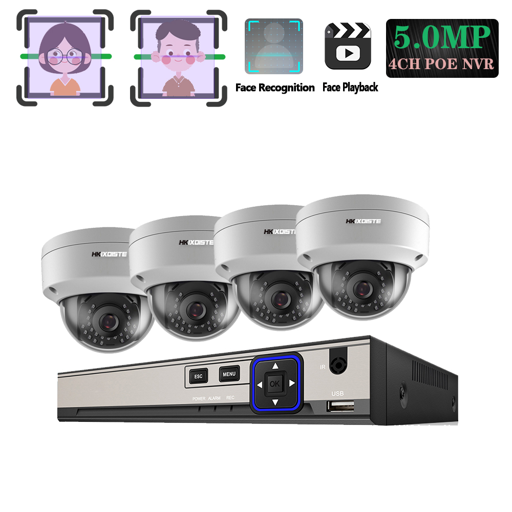 H.265+ 5MP POE CCTV Security System Face Record&Playback NVR Explosion-proof 5MP 1/3