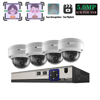 H.265+ 5MP POE CCTV Security System Face record&Playback NVR Explosion proof 5MP 1/3 Sony IMX335 IP Camera Surveillance Kit