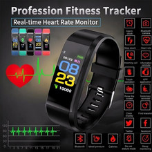 Id115plus Smart Bracelet Sport Bluetooth Wristband Heart Rate Monitor Watch Fitness Tracker Smart Band Smartwatch Women(China)