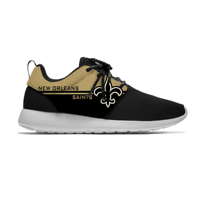Saints Breathable Casual Sneakers Men/Women Lightweight Sport Shoes New Orleans Football Fans Running Meshy Shoes