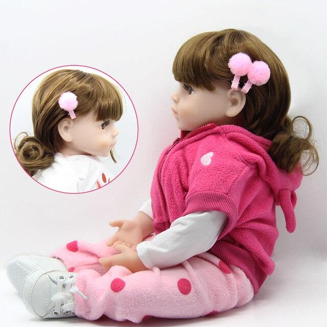 In Silicone Rinato Bambole 47 centimetri Vivo Bambino Realistica Realistica Reale Della Ragazza Baby Doll Lol Gioco Di Compleanno Di Natale Giocattoli per I Bambini