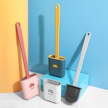 TPR Toilet Brush Holder Sets WC Wall Hanging Household Floor Standing Soft Bristle Head Bathroom Cleaning Accessories