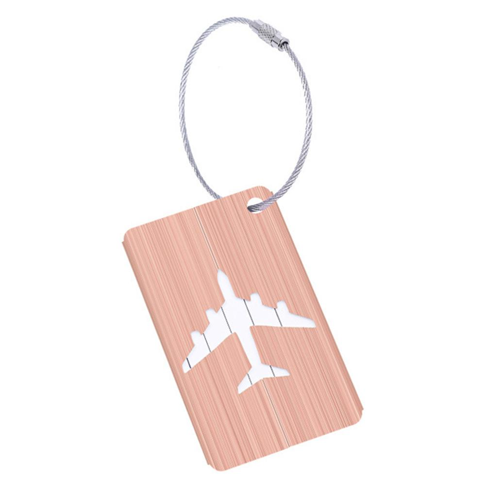 1pc Outdoor Obag  Aluminum Alloy Drawing Luggage Tag  Travel Accessories for Luggage Bag  Tag Label Tags Travelling Suitcase