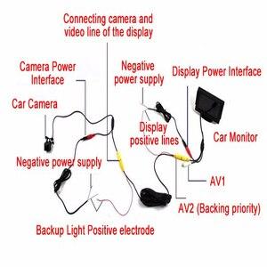 Image 5 - Caméra de sauvegarde pour voiture 4 8 12 lumière LED avec vision nocturne inversée avec ligne de stationnement étanche IP68