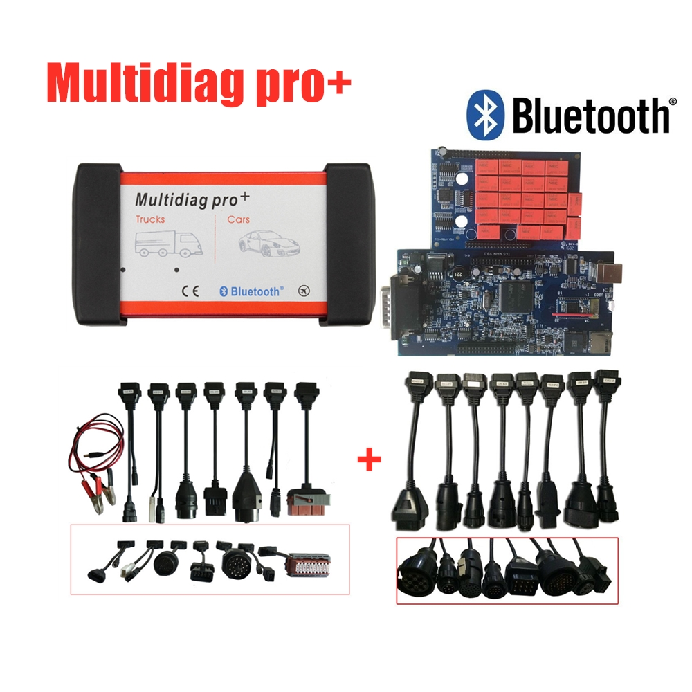 Multidiag Pro+ 2016.R0 /2015.R3 software For Cars/Trucks OBD2 <font><b>Scanner</b></font> VD TCS C-D-P <font><b>obd</b></font> diagnostic tool +Car Cables +Truck Cables image