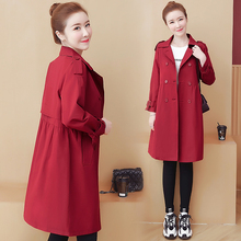 fall 2019 black trench long coat for women fashion clothes plus size overcoat spring casual korean clothing