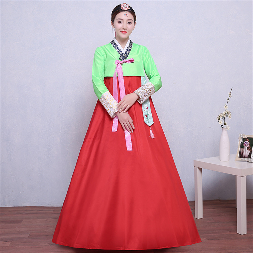 9Color Traditional Korean Clothing For Women Hanbok Dress Ancient Costume Retro Court Korea Fashion Stage Performance Clothing