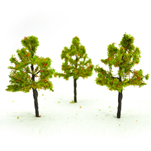 8cm model wire green trees toys scale miniature sandtable wargame color plants for diorama tiny forest mountain scenery making