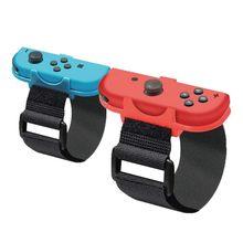 Correa para el brazo ajustable para Nintendo Switch, 2 uds., cinta para el brazo para Joy Con Just Dance 2019, transpirable