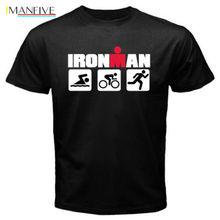 Ironman Triathlon Swim Bike Run Sports Symbol MenS Black T-ShirtmenS Fashion 2019 Summe Hip Pop Funny T-Shirt