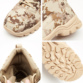 Outdoor Desert Military Camo Breathable Hiking Shoe Spring Autumn Men Hunting Climbing Leather Wearproof Tactical Training Boots 4