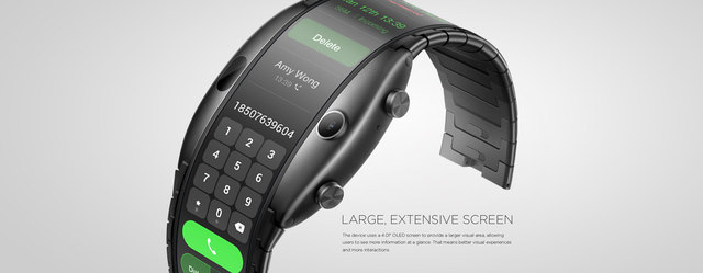 ZTE Nubia alpha Chinese Version wristwatch cellphone Snapdragon 8909W Mobile Phone band Curved surface screen 8GB ROM 3
