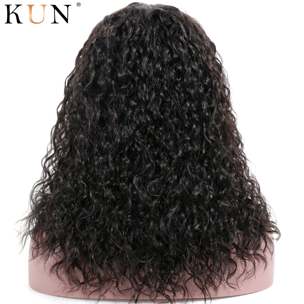 Curly Human Hair Wig 360 Lace Frontal Wig Natural Curly Remy Pre Plucked 4.5 & 6 Inch Parting 150 180 Density With Baby Hair