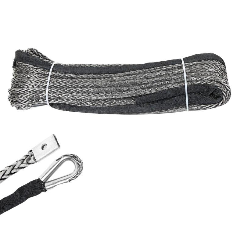30 м синтетический трос лебедки 10 мм Кабель восстановления автомобиля буксировочный трос для автомобиля Atv Utv внедорожный